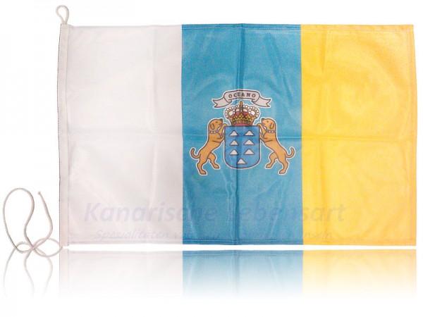 Fahne Kanaren mit Wappen, polyester - ca. 60 x 40 cm