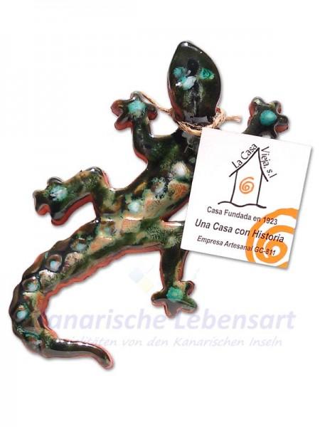 Eidechse Grün - ca. 15cm