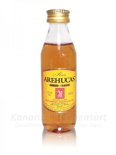 Miniatur Ron Arehucas Carta Oro - 5cl