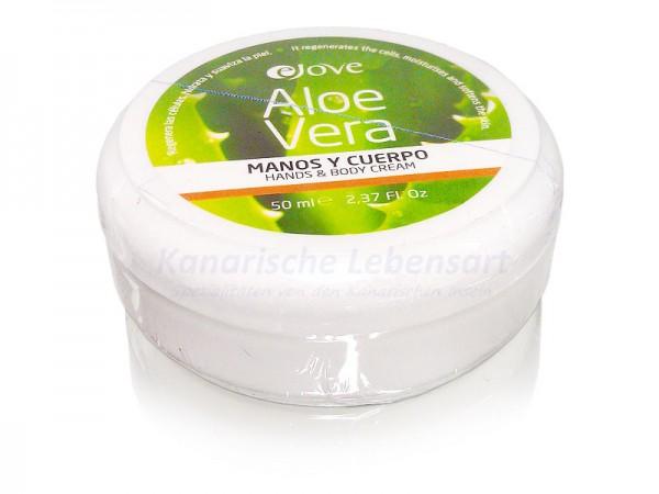 Aloe Vera Hand- und Körpercreme von Ejove - 50ml