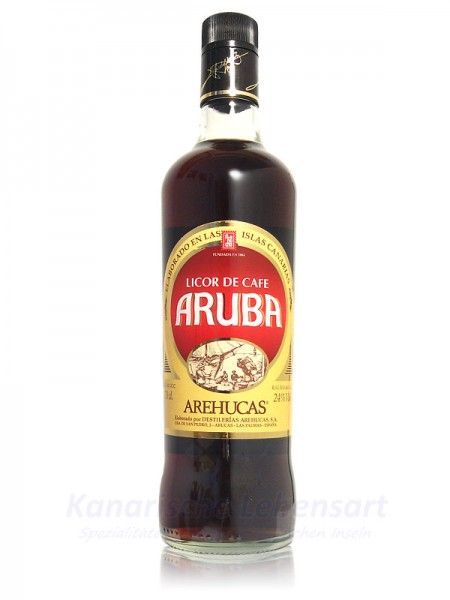 Licor de Cafe Aruba Arehucas - 0,7 Liter 24% Vol.