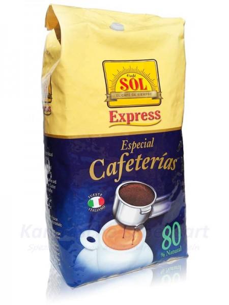 Café Sol en Grano Mezcla Suave 80/20 - ganze Bohne - 1Kg