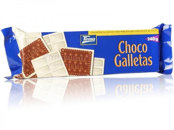 Choco Galletas Tirma weiße Schokolade - 240g
