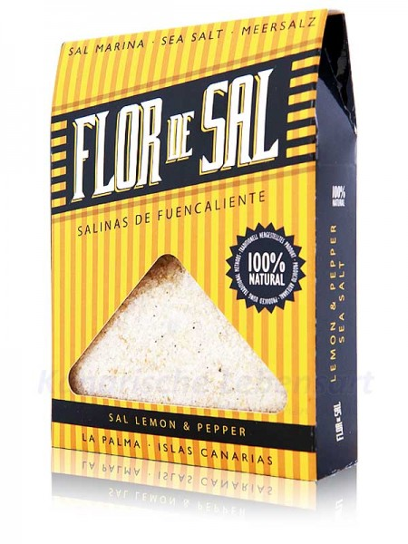 Flor de Sal Lemon & Pepper - 120g