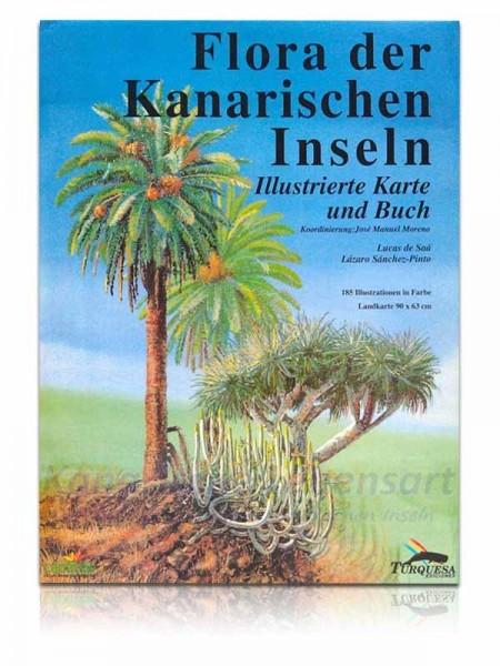 Flora der Kanarischen Inseln - Illustrierte Karte und Buch