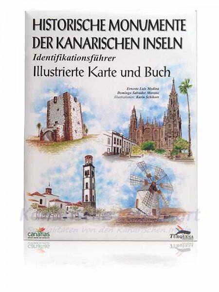 Historische Monumente der Kanarischen Inseln - Illustrierte Karte und Buch