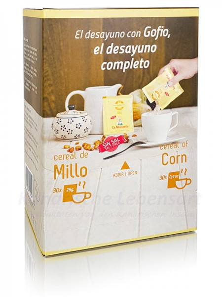 Gofio de Millo in Spenderbox - 30 x 25g
