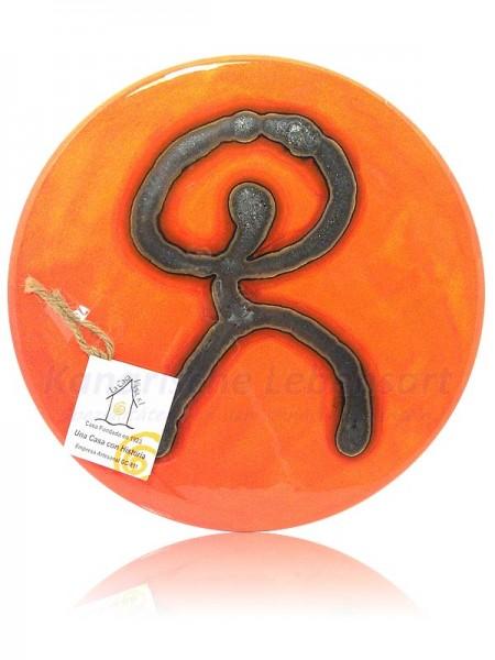 Keramikteller Orange - ca. 24cm
