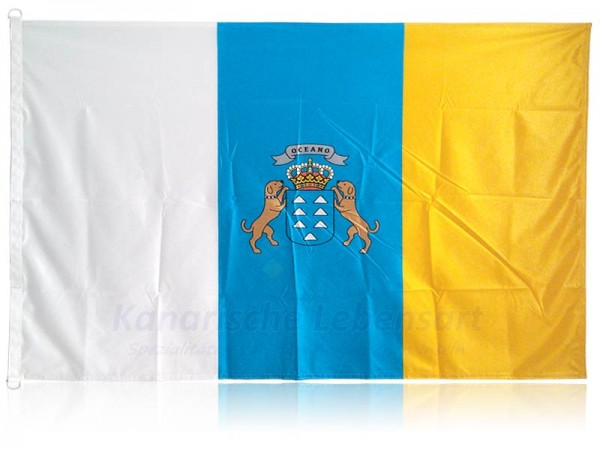 Fahne Kanaren mit Wappen - 150x100cm