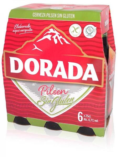 Dorada Pilsen Sin Gluten - 250ml Flasche im 6er-Pack