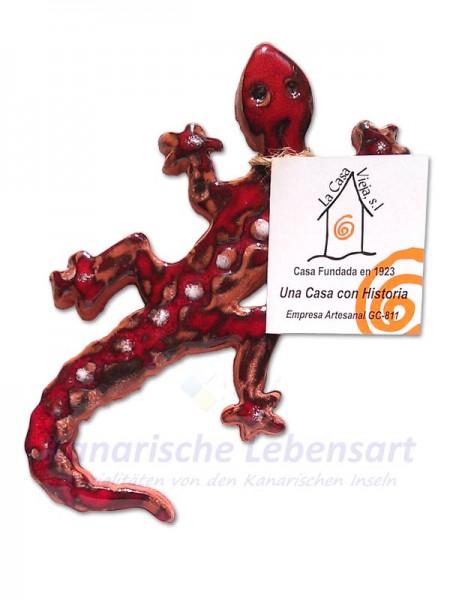 Eidechse Rot - ca. 15cm