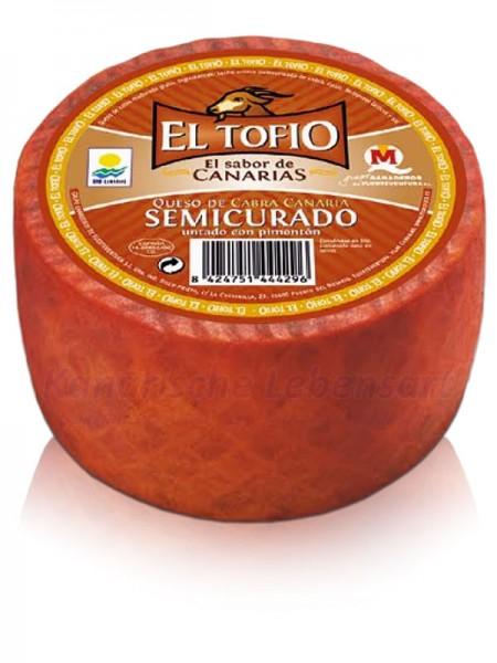 Queso EL TOFIO Semicurado Pimenton - 1Kg