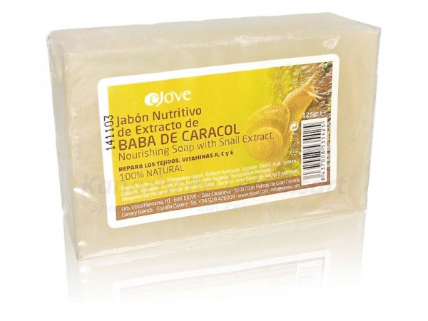 Jabón Nutritivo de Extracto de Baba de Caracol - 125g