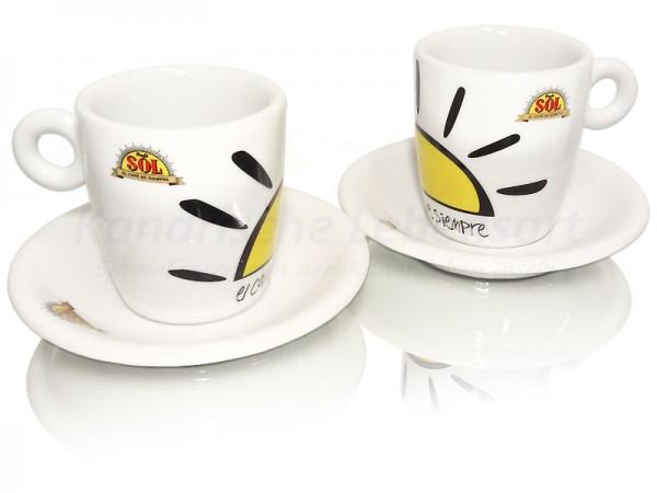 kaffeetassen caf sol 2er set kanarische lebensart spezialit ten von den kanarischen inseln. Black Bedroom Furniture Sets. Home Design Ideas