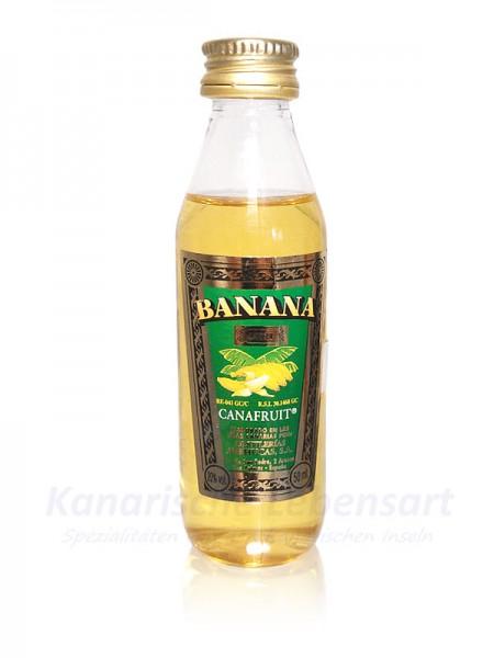 Miniatur Bananenlikör Arehucas - 50ml