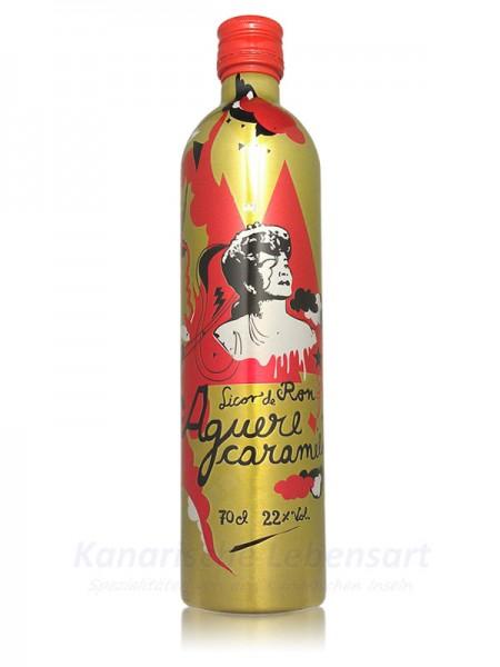Licor Ron Aguere Caramelo - 0,7 Liter 22% Vol.